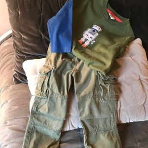 Baby Gap olive green cargo pant boys 3t